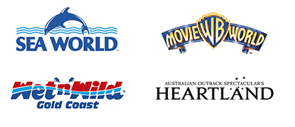 Sea World, Movie World, Wet`n`Wild, Heartland